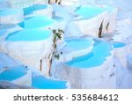natural travertine pools and... | Shutterstock . vector #535684612