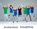 the kids dance school  ballet ... | Shutterstock . vector #535689946