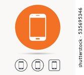 smartphone icon. mobile phone... | Shutterstock .eps vector #535695346