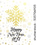 happy new year 2017 gold... | Shutterstock .eps vector #535706935