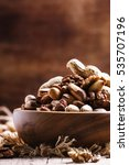 nuts mix  healthy and... | Shutterstock . vector #535707196
