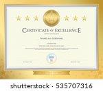 elegant certificate template... | Shutterstock .eps vector #535707316
