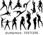 15 vector dance girls | Shutterstock .eps vector #53571358