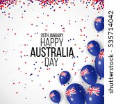 happy australia day 26 january... | Shutterstock .eps vector #535714042