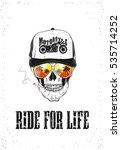 ride for life. skull. vector... | Shutterstock .eps vector #535714252