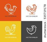 vector set of logo design... | Shutterstock .eps vector #535719178