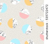 seamless geometric pattern with ... | Shutterstock .eps vector #535722472