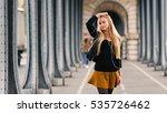 young beautiful blonde woman...   Shutterstock . vector #535726462