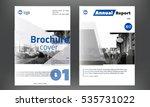 blue annual report design...   Shutterstock .eps vector #535731022