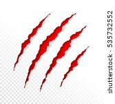 claws scratches on transparent... | Shutterstock .eps vector #535732552