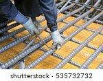 rebar tiers   japanese tying... | Shutterstock . vector #535732732