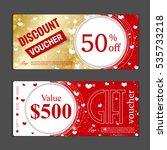 gift voucher template. can be... | Shutterstock .eps vector #535733218