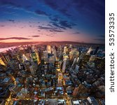 amazing view to new york... | Shutterstock . vector #53573335