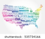 usa map word cloud collage with ... | Shutterstock .eps vector #535734166