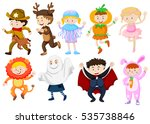 kids wearing costumes for...   Shutterstock .eps vector #535738846
