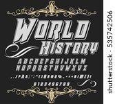 script font typeface world... | Shutterstock .eps vector #535742506