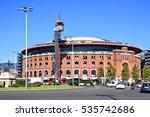 arenas de barcelona at the... | Shutterstock . vector #535742686