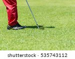 golf player at the putting...   Shutterstock . vector #535743112