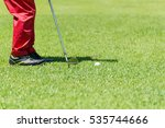 golf player at the putting... | Shutterstock . vector #535744666