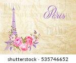 Eiffel Tower Simbol With Sprin...