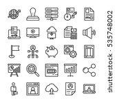 startup and development vector... | Shutterstock .eps vector #535748002