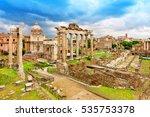 Roman Ruins In Rome  Forum....