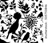 birds and flowers vector... | Shutterstock .eps vector #535753846