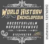 script handcrafted vector...   Shutterstock .eps vector #535760542