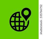 location icon flat disign