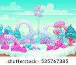 cool cartoon fantasy sweet... | Shutterstock .eps vector #535767385