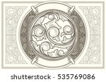 vintage decorative ornate card | Shutterstock .eps vector #535769086