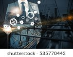 businessman holding abstract... | Shutterstock . vector #535770442