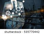 businessman holding abstract...   Shutterstock . vector #535770442
