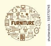 furniture minimal thin line... | Shutterstock .eps vector #535770745