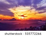 amazing mountain landscape with ... | Shutterstock . vector #535772266