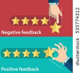 business hand give five star of ... | Shutterstock .eps vector #535774312