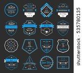 set of skateboarding logo ...   Shutterstock . vector #535780135