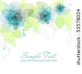 blue flower background | Shutterstock .eps vector #53578024