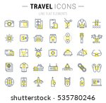 set  line icons  travel  hotel... | Shutterstock . vector #535780246