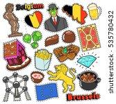 belgium travel scrapbook... | Shutterstock .eps vector #535780432