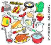 kitchen utensils and cooking... | Shutterstock .eps vector #535780552