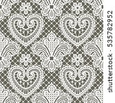 white lace seamless pattern | Shutterstock .eps vector #535782952