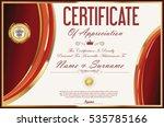 certificate retro design... | Shutterstock .eps vector #535785166