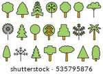 set of trees filled line icons | Shutterstock .eps vector #535795876