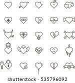 conceptual hearts outline icons | Shutterstock .eps vector #535796092
