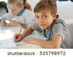 portrait of pupil in school... | Shutterstock . vector #535798972