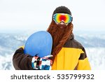 snowboarder with funny beard... | Shutterstock . vector #535799932