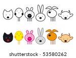 set of pets | Shutterstock .eps vector #53580262