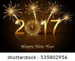 vector 2017 happy new year... | Shutterstock .eps vector #535802956