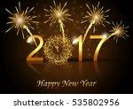 vector 2017 happy new year... | Shutterstock .eps vector #535802956